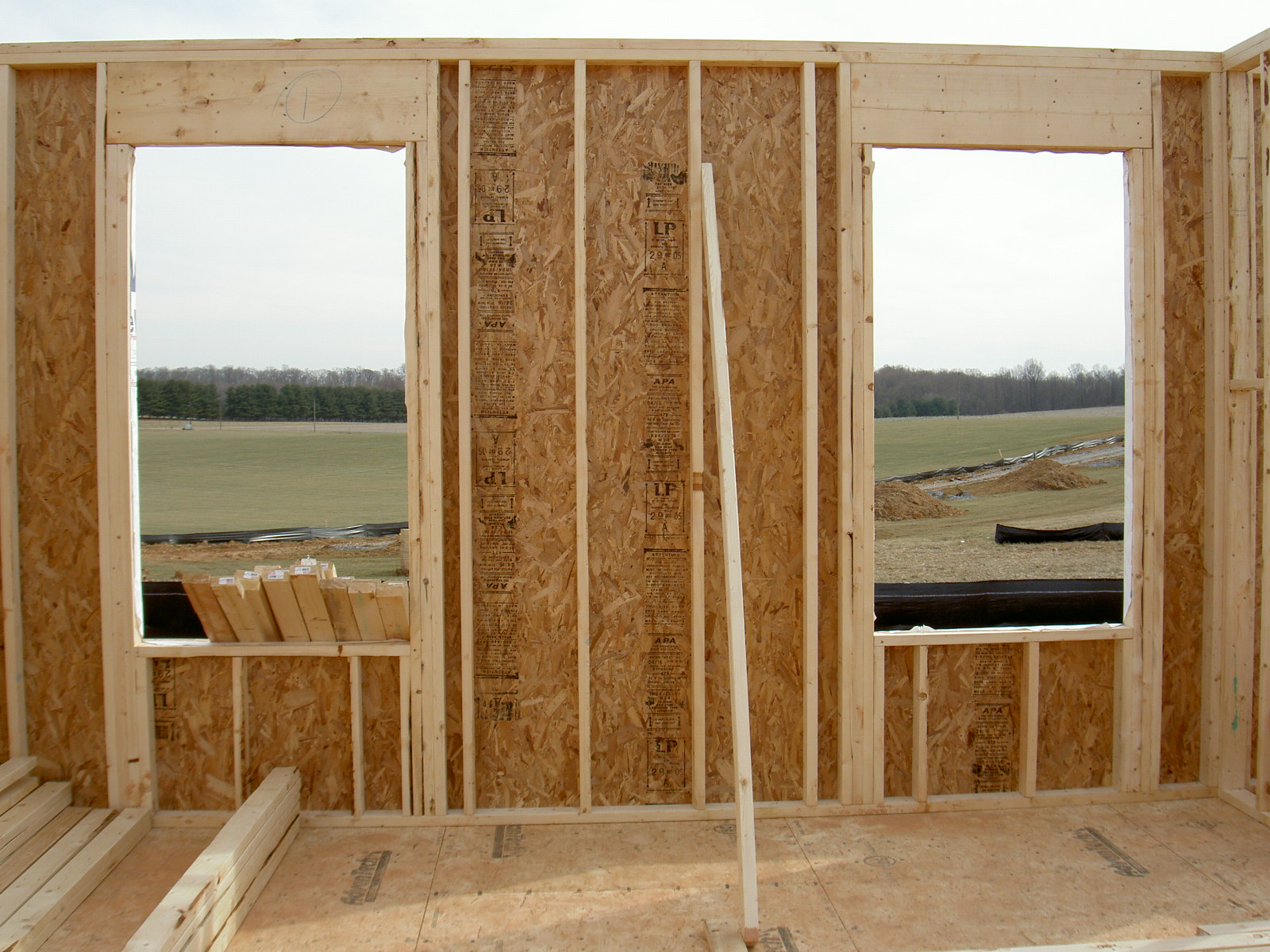 Building The Middleton House - Framing Windows Doors